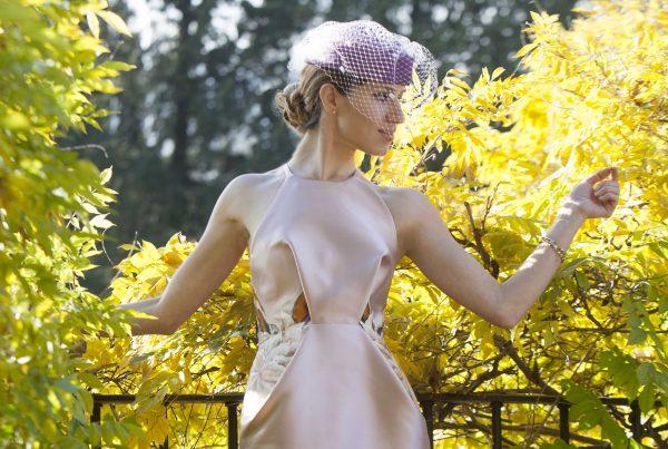 vestido de cóctel alta costura madrid